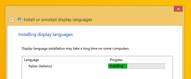 Download Language Pack in Italiano per Windows 8.1 RTM